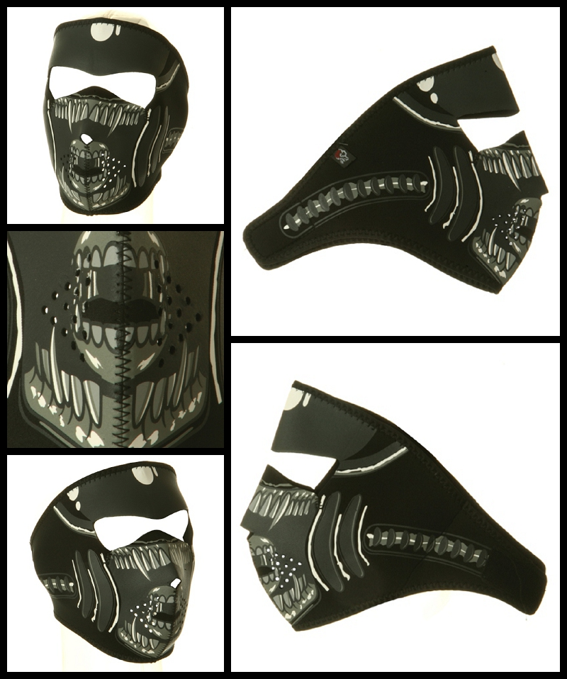 alien motorcycle face mask