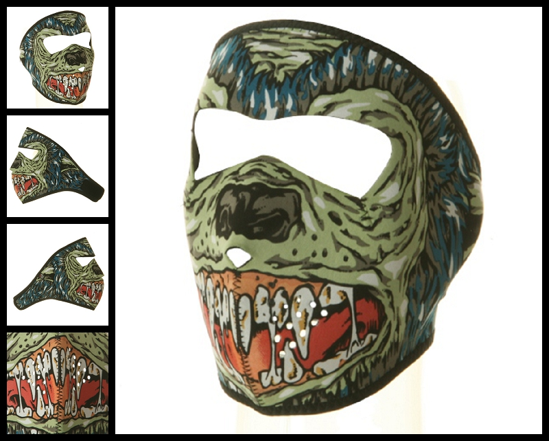 hell hound motorcycle face mask