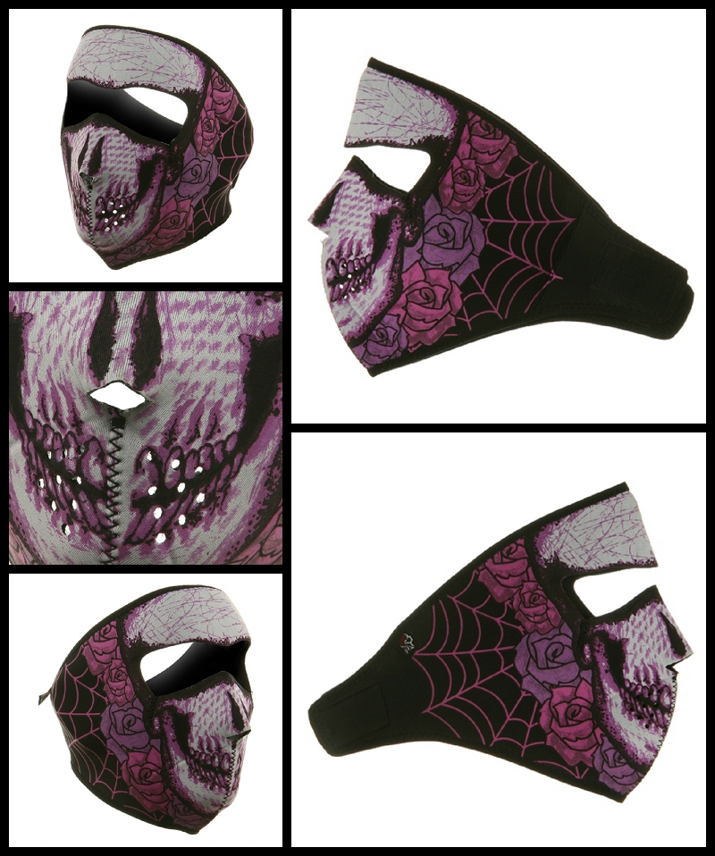 Women's Lady Skull Neoprene Face Mask