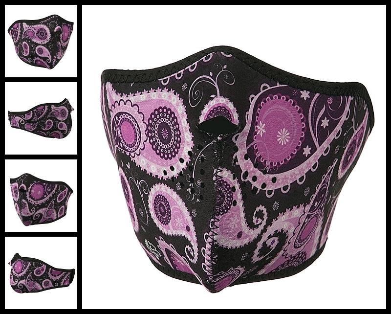 half-purple-paisley-neoprene-face-mask