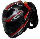 Motorcycle Helmet Pigtails